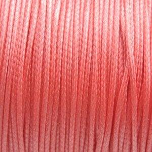 Roze Waxkoord shiny rose peach 1mm - 8 meter