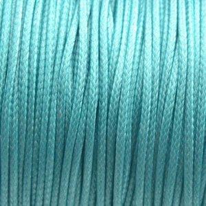 Turquoise Waxkoord shiny turquoise 1mm - 8 meter