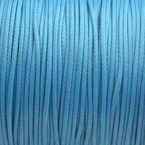 Blauw Waxkoord shiny blue 1mm - 8 meter