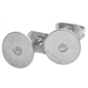 Rvs Oorsteker RVS Ø6mm  - 5 paar