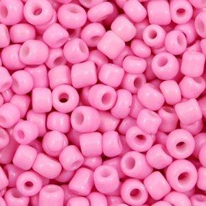 Roze Rocailles glas Aurora pink 6/0 (4mm) - 20 gram
