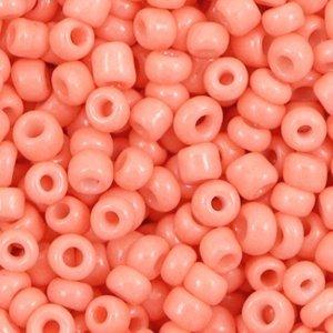 Oranje Rocailles glas Peach sorbet pink 6/0 (4mm) - 20 gram