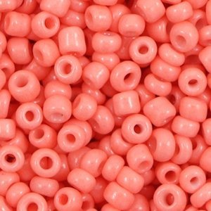 Oranje Rocailles glas Salmon pink orange 6/0 (4mm) - 20 gram