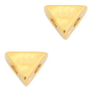 Goud Kraal driehoek  Ø2mm Goud DQ 6x8mm