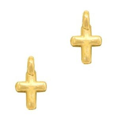 Goud Bedel kruisje Goud DQ 8x5mm