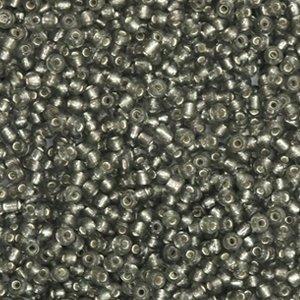Grijs Rocailles glas Anthracite black silver lined 12/0 (2mm) - 20 gram