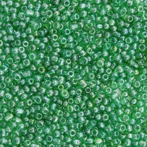 Groen Rocailles glas Jade green transparent 12/0 (2mm) - 20 gram