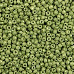 Groen Rocailles glas Iguana green 12/0 (2mm) - 20 gram