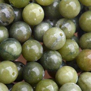 Groen Edelsteen Jade olijf groen rond 8mm