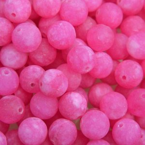 Paars Edelsteen Jade hot pink rond 8mm