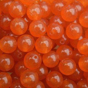 Oranje Edelsteen Jade orange rond 8mm