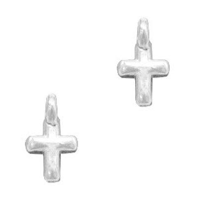 Zilver Bedel metaal kruisje Zilver DQ 8x5mm