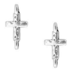 Zilver Tussenzetsel kruis Zilver DQ 14.5x7.2mm