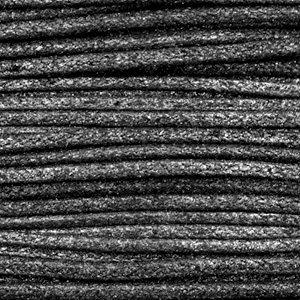 Zwart Waxkoord metallic Anthracite black 1mm - 10 meter