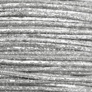 Grijs Waxkoord metallic Carbon grey 1mm - 10 meter
