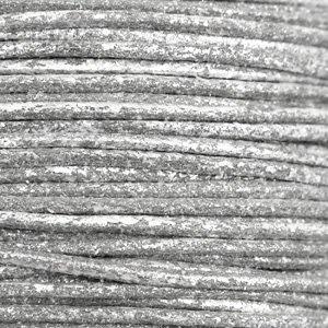 Grijs Waxkoord metallic Carbon grey 0,5mm - 10 meter