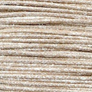 Bruin Waxkoord metallic Tan grey 1mm - 10 meter