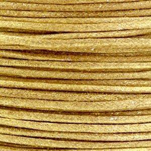 Bruin Waxkoord metallic Golden brown 1mm - 10 meter