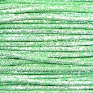 Groen Waxkoord metallic Parrot green 1mm - 10 meter