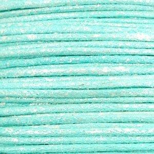 Turquoise Waxkoord metallic Turquoise blue 1,5mm - 10 meter