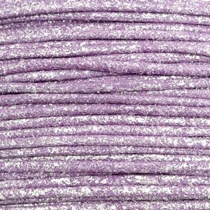 Paars Waxkoord metallic Lavender purple 1mm - 10 meter