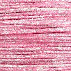Roze Waxkoord metallic Magenta pink 0,5mm - 10 meter