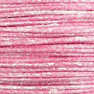 Roze Waxkoord metallic Magenta pink 1mm - 10 meter