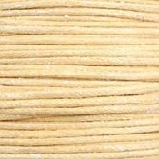 Geel Waxkoord metallic Yellow beige 1mm - 10 meter