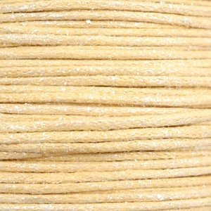 Geel Waxkoord metallic Yellow beige 1mm - 10 meter