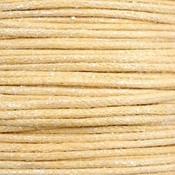 Geel Waxkoord metallic Yellow beige 0,5mm - 10 meter