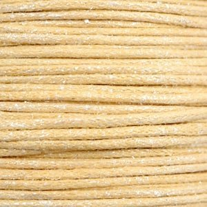 Geel Waxkoord metallic Yellow beige 0,5mm - 10 meter