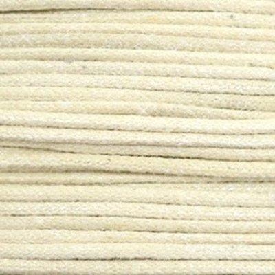 Bruin Waxkoord metallic Sand beige 1mm - 10 meter
