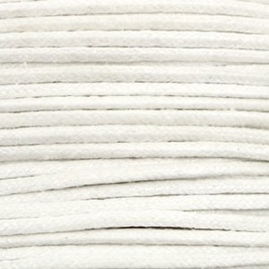 Wit Waxkoord metallic White 1mm - 10 meter