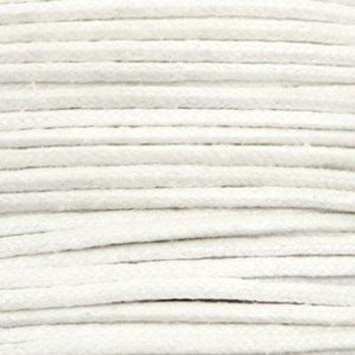 Wit Waxkoord metallic White 1,5mm - 10 meter
