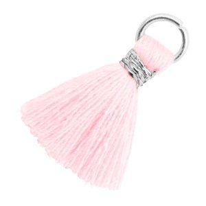 Roze Ibiza kwastje Zilver-Blushing bride rose 18mm