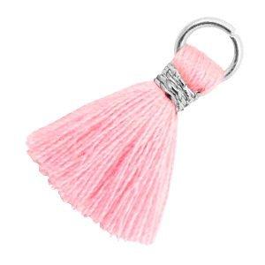 Roze Ibiza kwastje Zilver-Candy pink 18mm