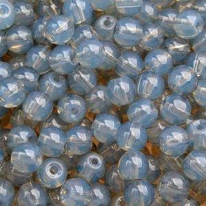 Grijs Glaskraal opaal grijs 6mm - 50 stuks
