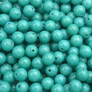 Turquoise Edelsteen kraal Jade turquoise rond 6mm - 10 stuks