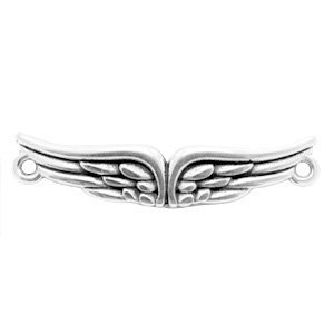 Zilver Tussenzetsel wings Zilver DQ 39x8mm