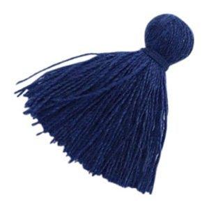 Blauw Kwastje basic Midnight blue 20mm