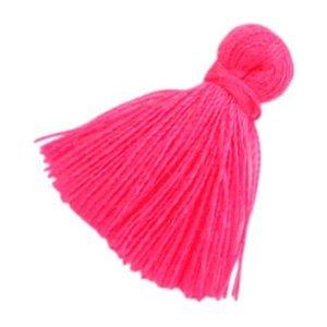 Roze Kwastje basic Fluor pink 20mm