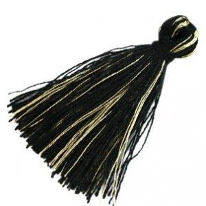 Zwart Kwastje basic goldline Black 30mm