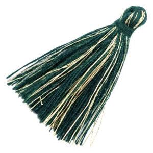 Groen Kwastje basic goldline Dark green 30mm