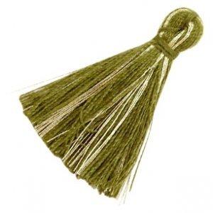 Groen Kwastje basic goldline Olive green 30mm