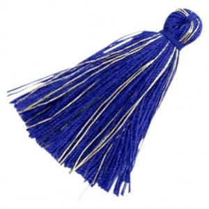 Blauw Kwastje basic goldline Royal blue 30mm