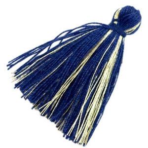 Blauw Kwastje basic goldline Dark blue 30mm