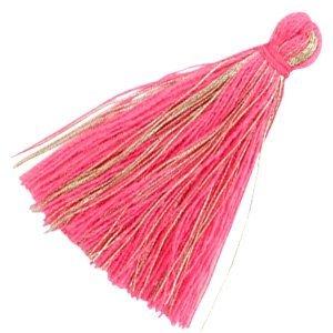 Roze Kwastje basic goldline Fuchsia pink 30mm