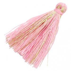Roze Kwastje basic goldline Pink 30mm