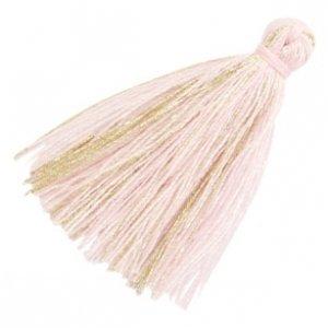 Roze Kwastje basic goldline Light pink 30mm