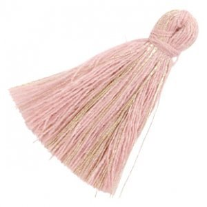 Roze Kwastje basic goldline Antique pink 30mm